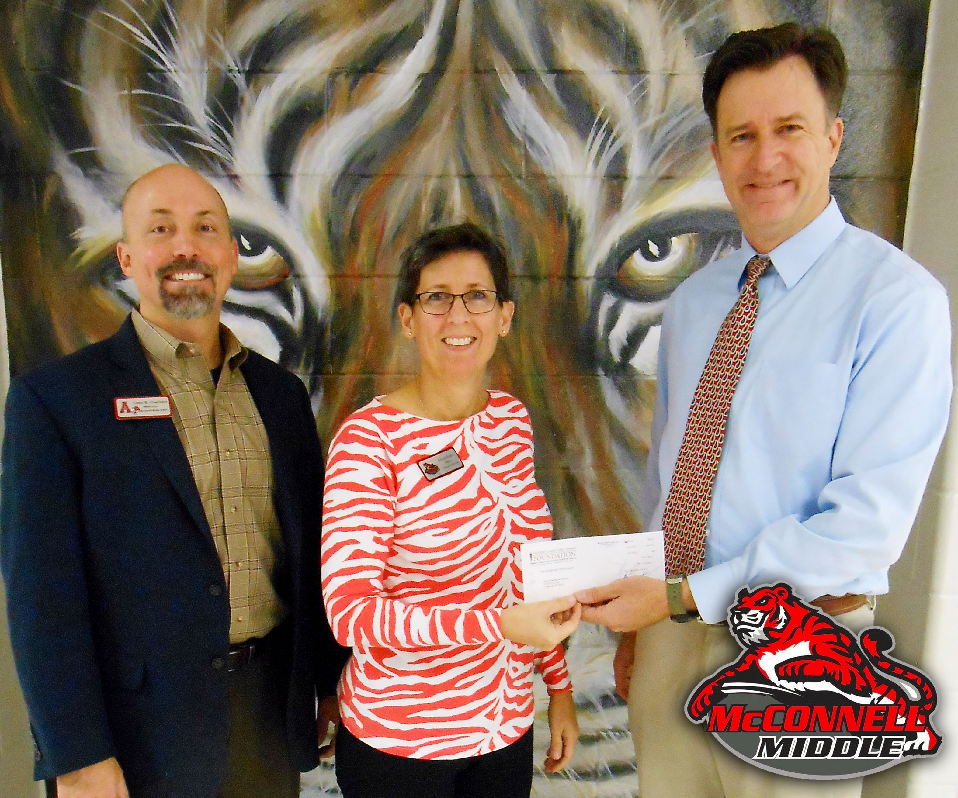 Archer Academic Foundation presents grant to Kristin Fuqua of McConnell Middle School