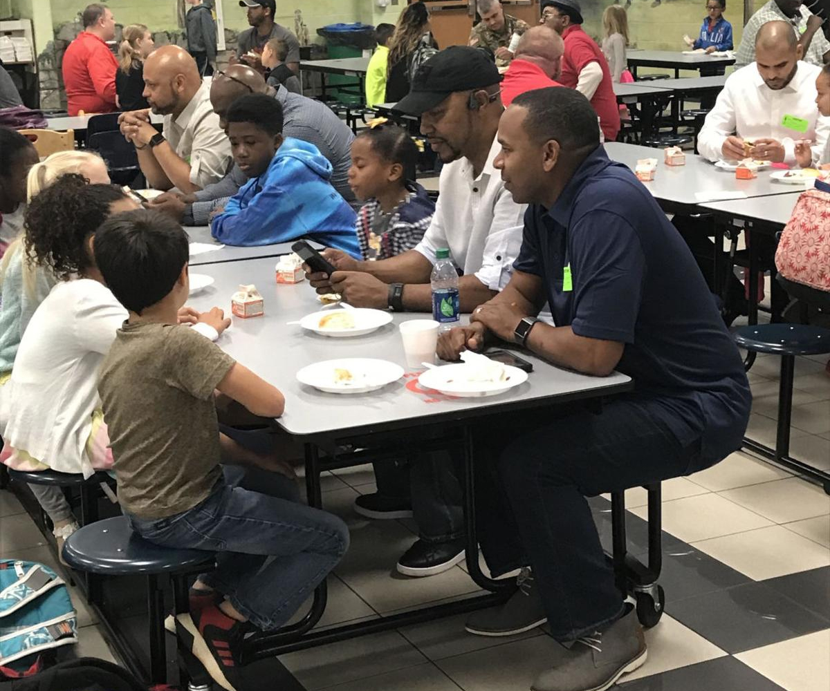 All Pro Dads monthly breakfast becoming a tradition at Gwinnett's Mulberry Elementary