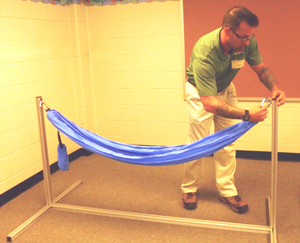Dad builds hammock for Gwinnett special education classroom