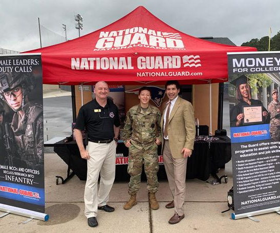 Berkmar High School students learn what it takes to be in National Guard