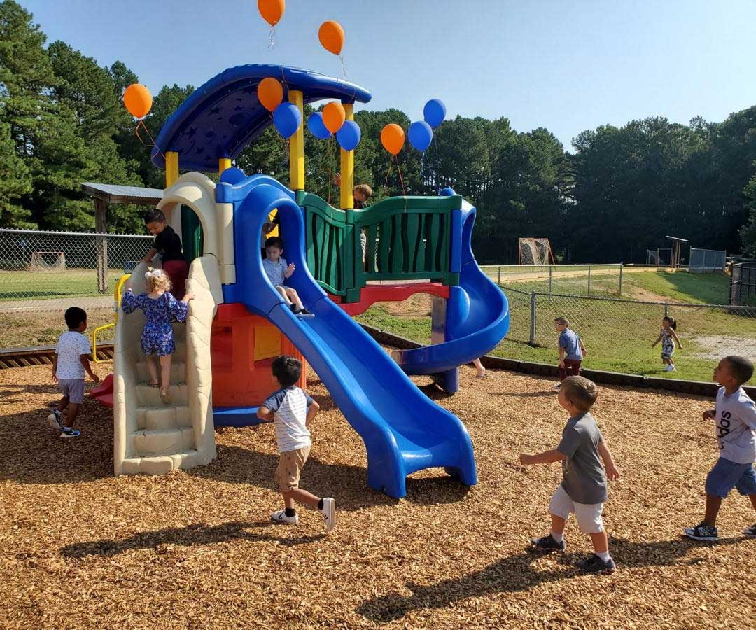 New Camp Creek Elementary School playground gives pre-K students healthy outlet
