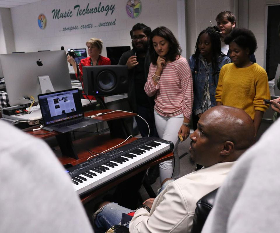 Grayson Tech students get advice, feedback from music industry professionals