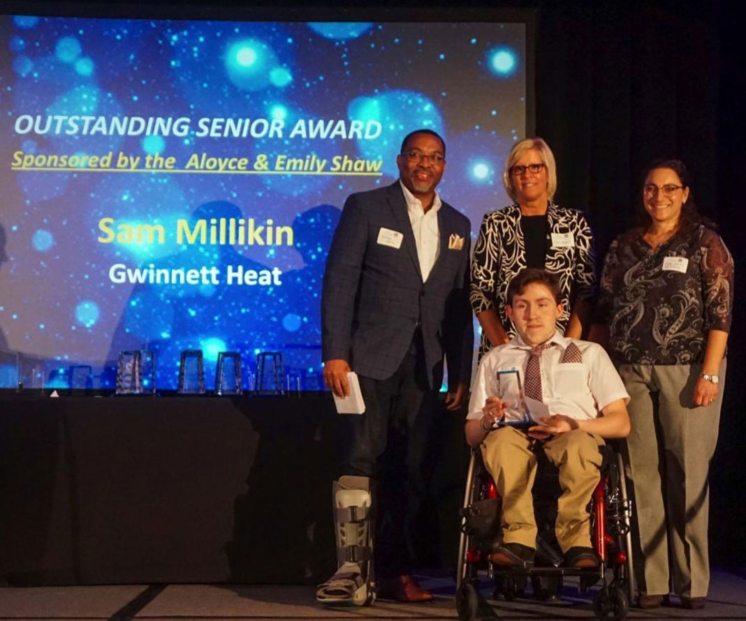 Gwinnett Heat's Sam Millikan earns AAASP Outstanding Senior Award