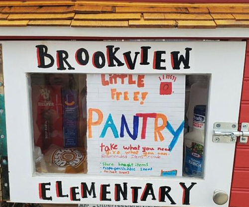 People are stocking Little Free Libraries with food and goods during coronavirus pandemic