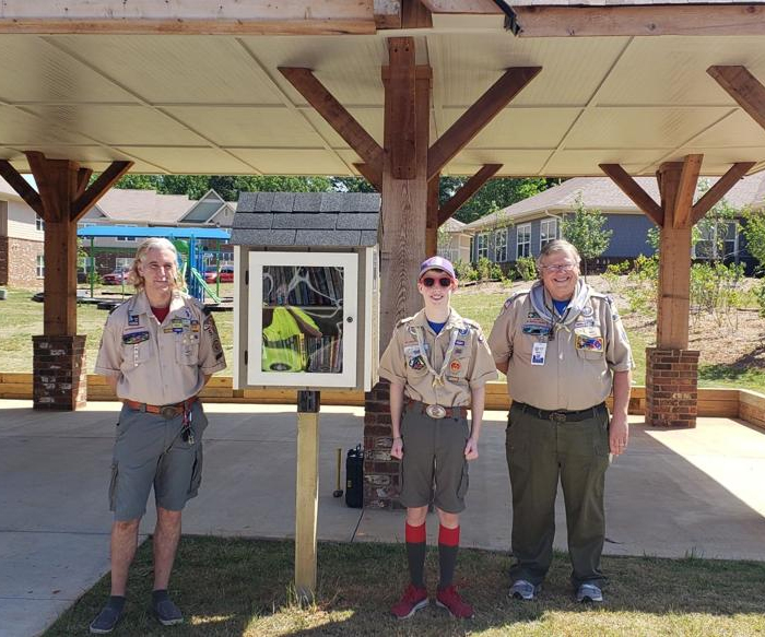 Eagle Scout candidate makes books accessible to families at Village of Hope Lawrenceville