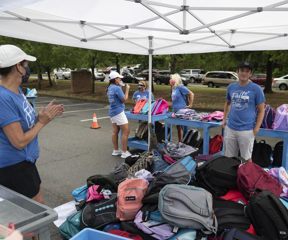'A really good time' — North Gwinnett Co-op hands out backpacks to students in need