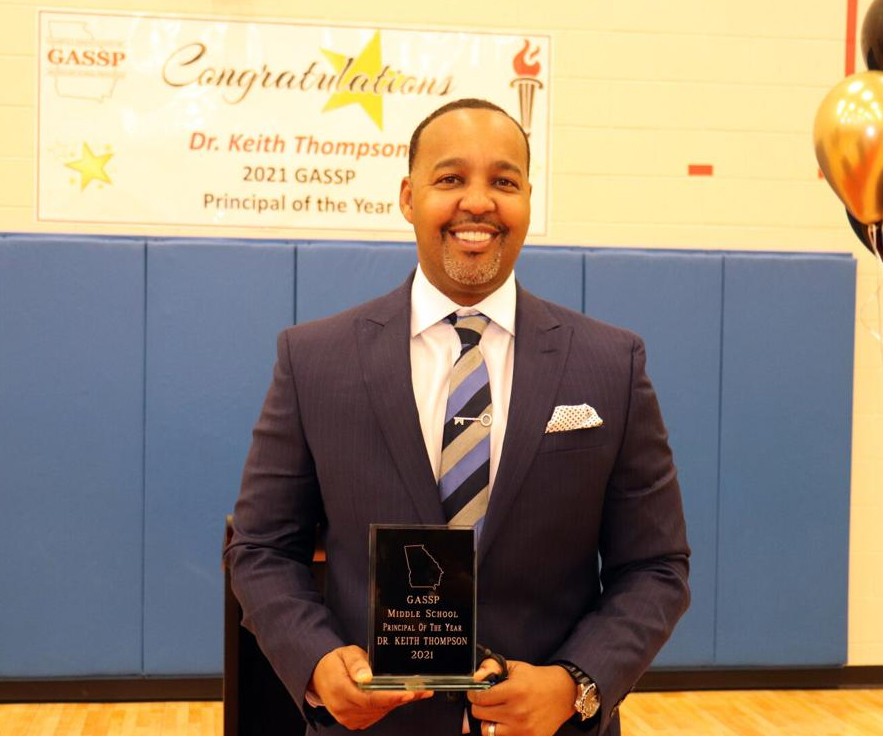 Northbrook Middle School's Keith Thompson named Georgia's 2021 Principal of the Year