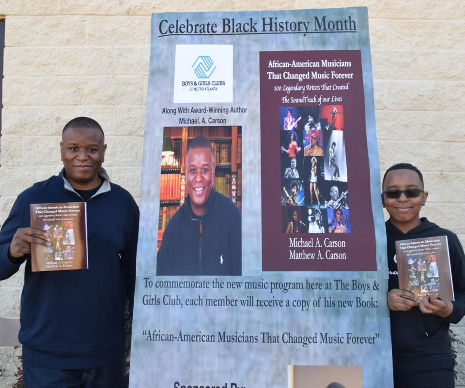 Father, son co-authors share their new book on influential Black musicians with Lawrenceville Boys and Girls Club