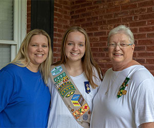 Family tradition — Mill Creek senior Bryn Hammock joins mother, grandmother as Girl Scout Gold Award honorees